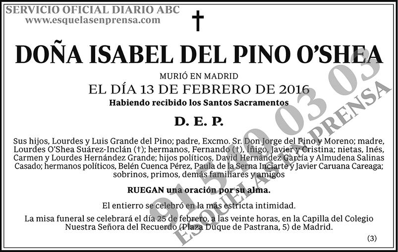 Isabel del Pino O´shea